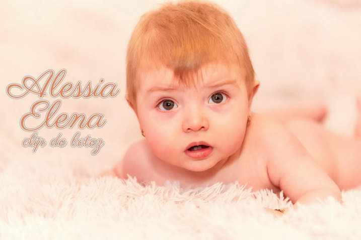 Clip ziua botezului Brasov. Foto video botez Brasov. Filmarile editate din cea mai frumoasa zi pentru micuta Alessia Elena. Cameraman video Brasov.